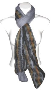 Cashmera Co. Sheer Light weight Gray Black Gold Solid #115 Pashmina Scarf Shawl Cashmere/Silk Risdarling