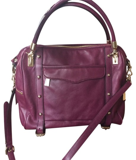 Rebecca Minkoff Edgy Leather Satchel in red violet