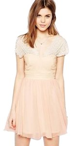 ASOS Feminine Girly Wedding Lace Pink Dress