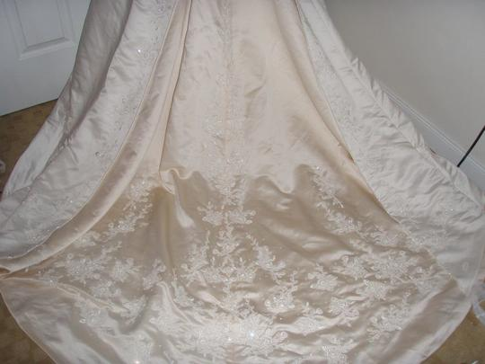 Victoria's Bridal Collection Ivory Satin The Ritz Wedding Dress Size 14 (L)