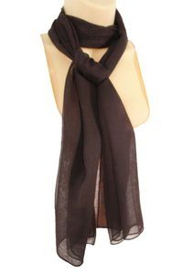 Other Women Classic Fashion Soft Fabric Neck Scarf Long Tie Necklace Basic Brown