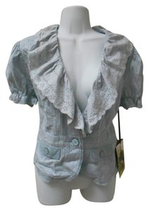 BB Dakota New Nordstrom Top Bb 100% Cotton Gray Jacket