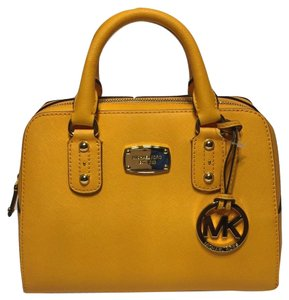 Michael Kors Yellow Fall Handbag Satchel in Vintage Yellow