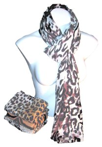 Other Beautiful Animal Print Black Brown Cream #130 Pashmina Scarf Shawl Cashmere/Silk Risdarling / Cashmera Co.