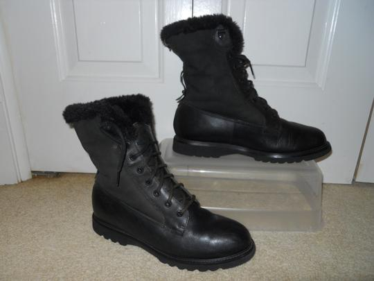 Rockport Leather Waterproof black Boots