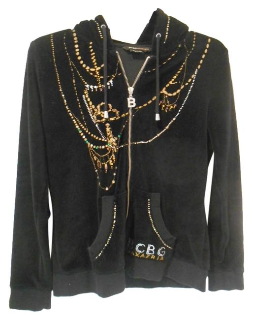 Item - Black with Gold and Other Details Bcbg Max Azria Bling Medium 10 Sweatshirt/Hoodie Size 8 (M)