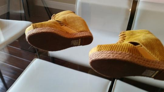 Jeffrey Campbell yellow suede Wedges