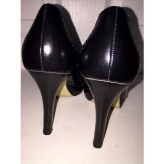 Marc Fisher Navy/Black Platforms