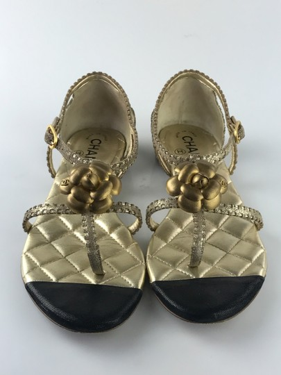 Chanel Camelia gold Sandals