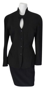 Thierry Mugler Thierry Mugler Tailored Black Sophisticated Business Elegant Skirt Suit
