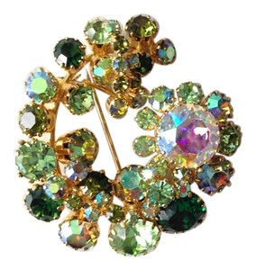 Green VIntage Brooch