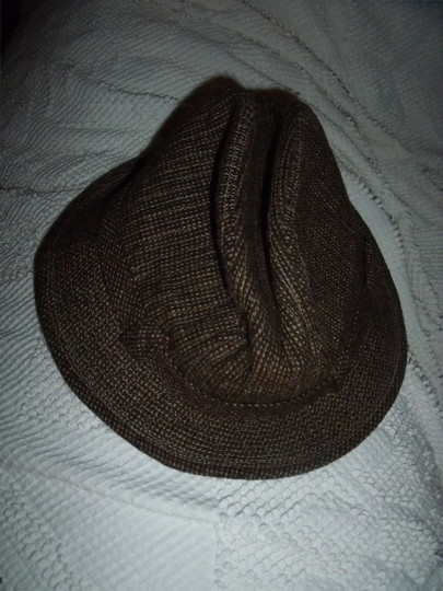 Stetson Vintage Stetson Hat Size 6 & 7/8 Two-Tone Brown Checked with Buckle