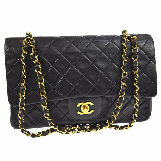 Preload https://item3.tradesy.com/images/chanel-255-reissue-255-reissue-classic-flap-classic-double-chain-black-lambskin-leather-shoulder-bag-6207622-0-8.jpg?width=440&height=440