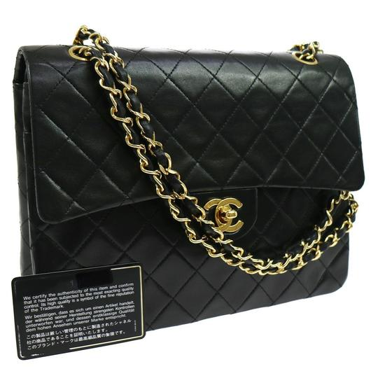Preload https://item4.tradesy.com/images/chanel-classic-flap-quilted-double-chains-black-lambskin-leather-shoulder-bag-6207973-0-14.jpg?width=440&height=440