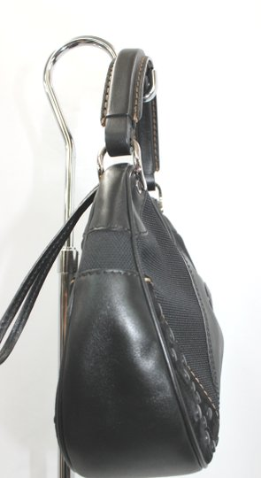 Tod's Leather Canvas Hobo Bag