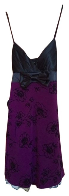 Preload https://item1.tradesy.com/images/city-triangles-blackpurple-mid-length-cocktail-dress-size-4-s-6208210-0-0.jpg?width=400&height=650