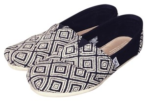 TOMS Gray and Black Flats