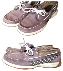 Sperry Gray and White Flats