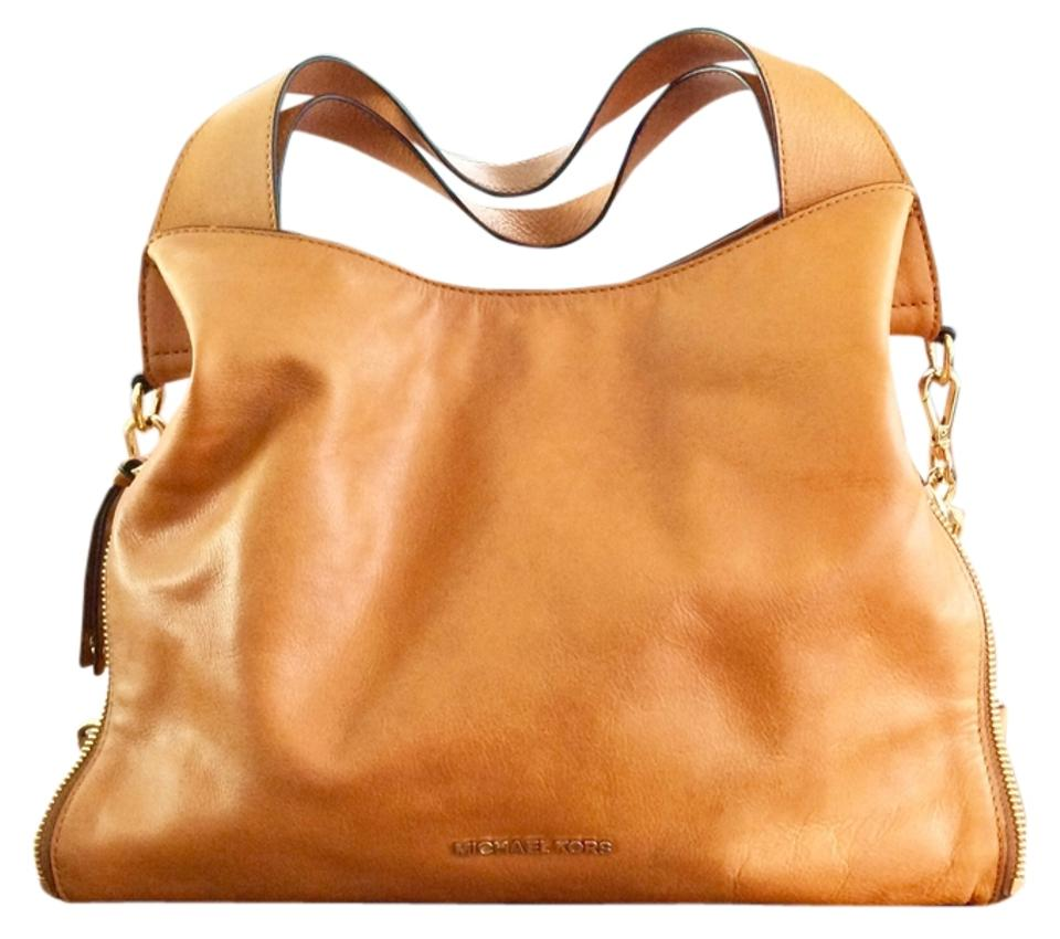 91a4f3908893 Michael Kors Devon Large Camel Leather Tote - Tradesy