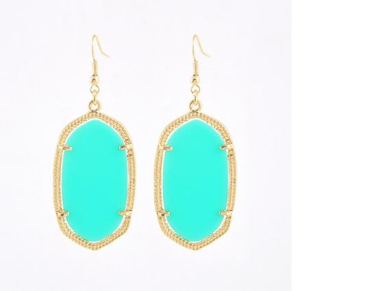 """Other """"Aphrodite"""" Statement Earring in Turquoise"""