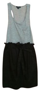 Rhapsody short dress Grey/Black on Tradesy