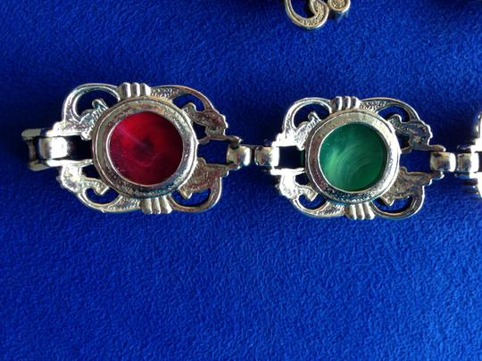 Other Vintage multi bracelet and clip earrings