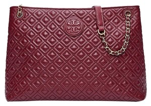 Tory Burch Marion Quilted Chain Shoulder Slouchy Tote