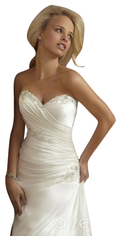 Mori lee 1865 fitted rich taffeta wedding dress on sale for Mori lee taffeta wedding dress