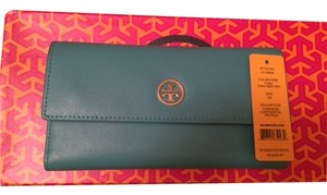 Tory Burch New Tory Burch Robinson Leather Continental Tri-fold Wallet