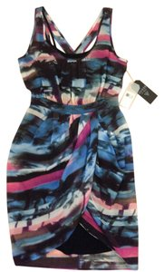 Guess short dress Black multi color Sleeveless on Tradesy