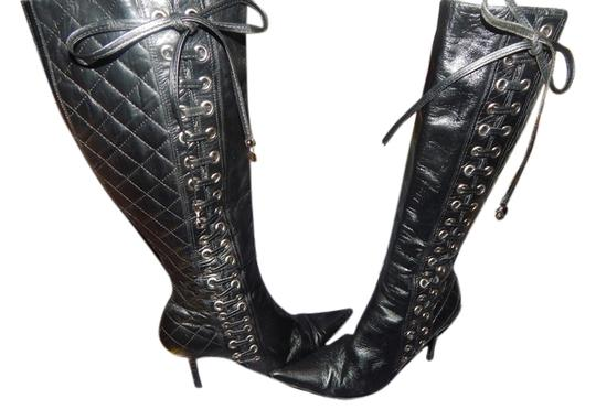 Preload https://item5.tradesy.com/images/dior-christian-leather-high-sexy-bootsbooties-size-us-95-regular-m-b-6219724-0-0.jpg?width=440&height=440