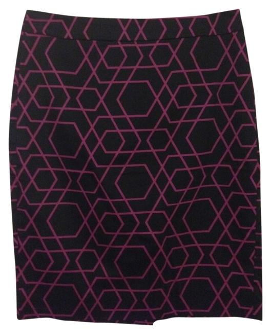 J.Crew Pencil Skirt Black/pink