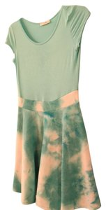 Zulily short dress Teal Tie Dye on Tradesy