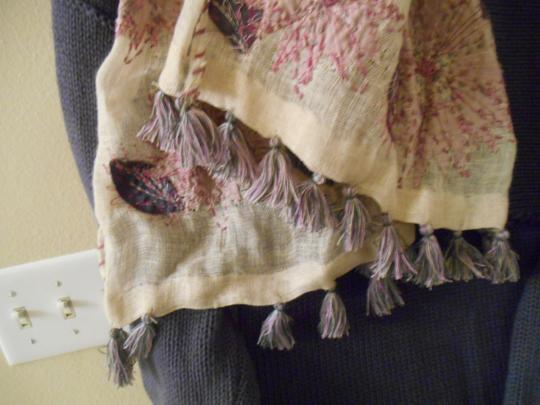 Other Artsy Purples Pinks Natural Earthy Scarf Embroidery Long