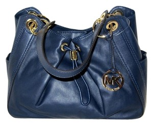 Michael Kors Ludlow Tote Satchel in Navy