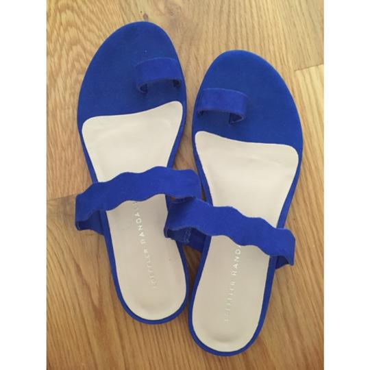 Loeffler Randall Royal Scalloped Blue Sandals