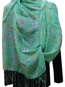 Lilly Pulitzer Murfee Scarf Cashmere And Silk Sand Bar Blue Gemini