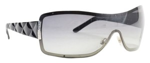Chanel Chanel Black/ Radiant Gray Gradient Lens Quilted Shield