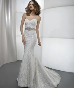 Demetrios Ivory Lace Ultra Sophisticates Style 1443 Sexy Wedding Dress Size 2 (XS)