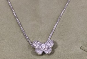 Van Cleef & Arpels Van Cleef & Arpels 18k White Gold and Diamond Butterfly Necklace