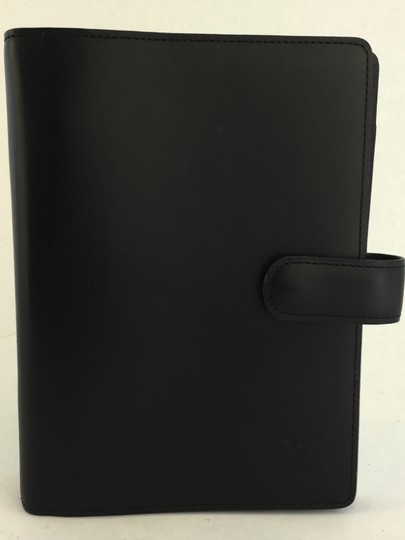 Louis Vuitton Nomade Leather Black Agenda MM Diary cover