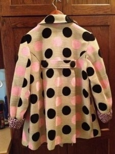 3 Sisters Pink and Black Polka Dots with Cream Background Blazer