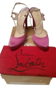 Christian Louboutin Satin Slingback Formal Fuchsia Pumps