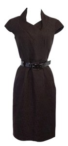 Max Mara short dress Brown Brocade Linen Silk on Tradesy