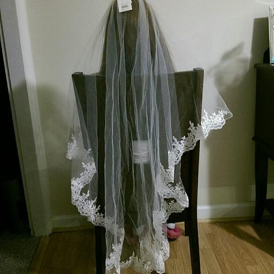 2-tier Bridal Veil With Embroidery From England