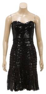 Oscar de la Renta short dress Black on Tradesy