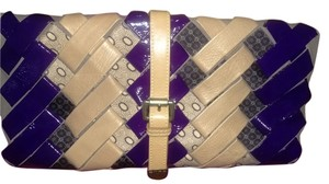 Etro Purple multi Clutch