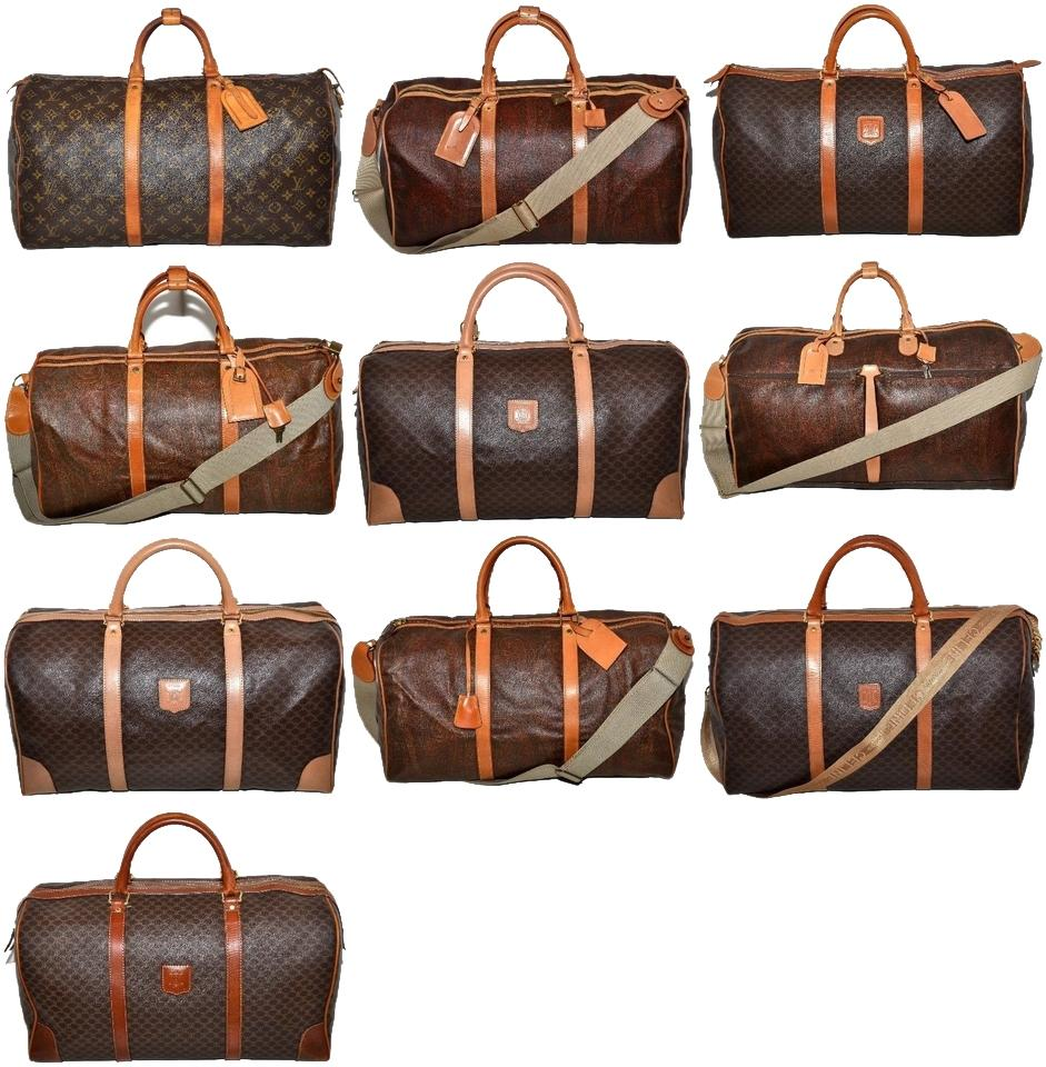 b9cbf7b6126 Louis Vuitton Duffle Wholesale Lot Of 10 Designer Etro Celine Use Discount  Code Get500 For Off Multi Color Leather   Coated Canvas Weekend Travel Bag