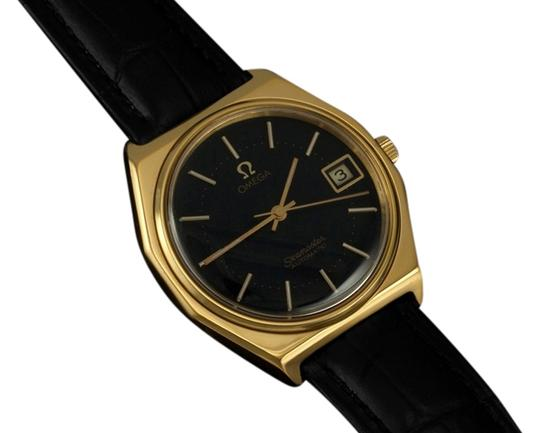 Preload https://item1.tradesy.com/images/omega-matte-black-c-1978-vintage-seamaster-mens-date-18k-gold-plated-and-stainless-steel-watch-6228280-0-0.jpg?width=440&height=440