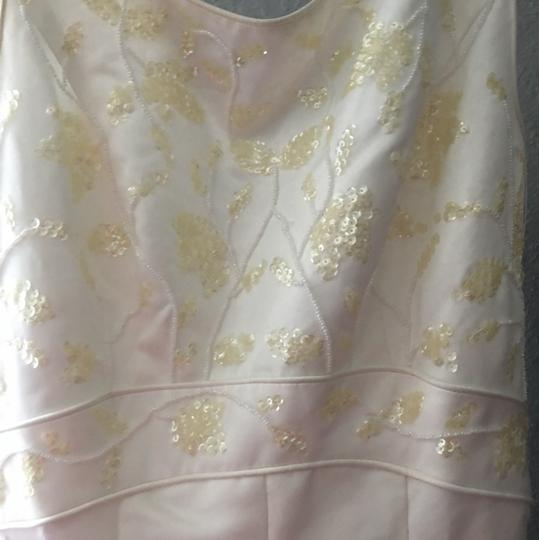 Oleg Cassini White Formal Wedding Dress Size 4 (S)
